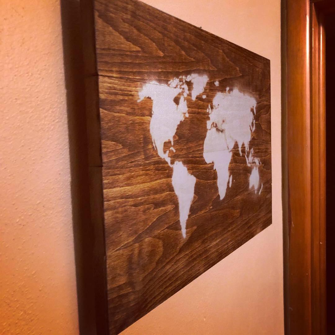 World Map Hanging Art