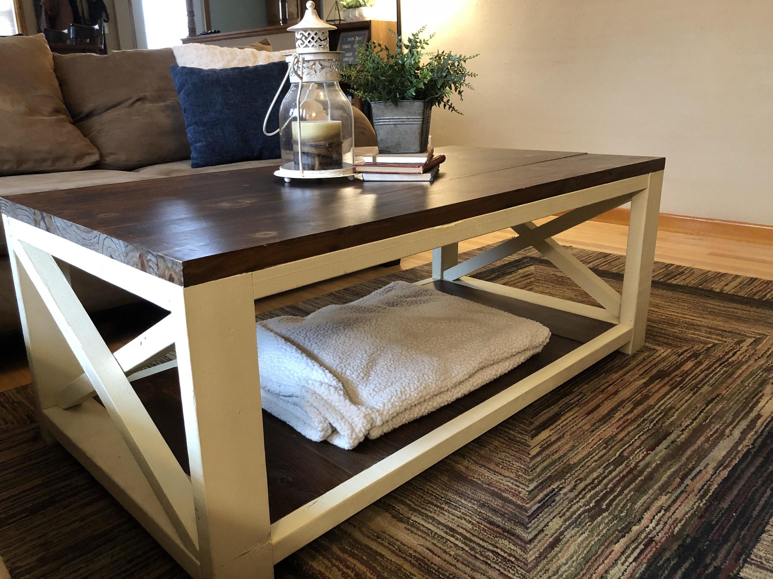 Rustic Farm-Style Coffee Table