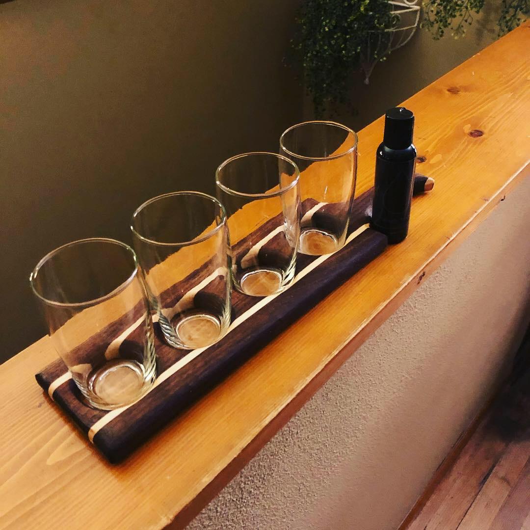 Walnut & Maple Paddle Beer Flight