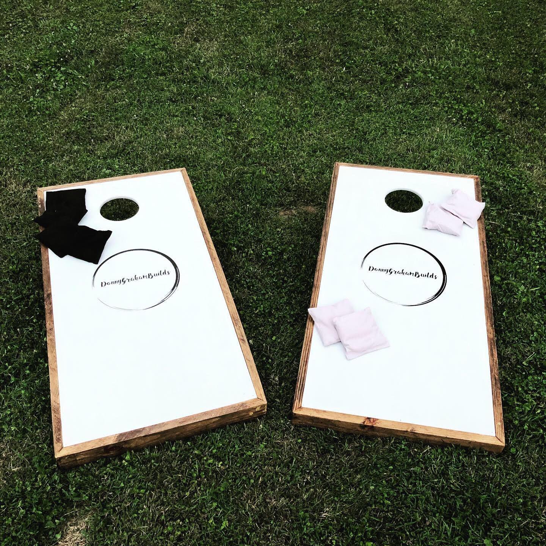 Custom 'Donny Graham Builds' Cornhole Boards
