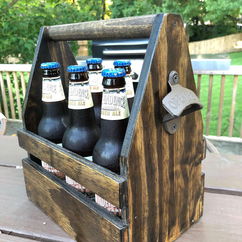 Wooden Beer Caddie