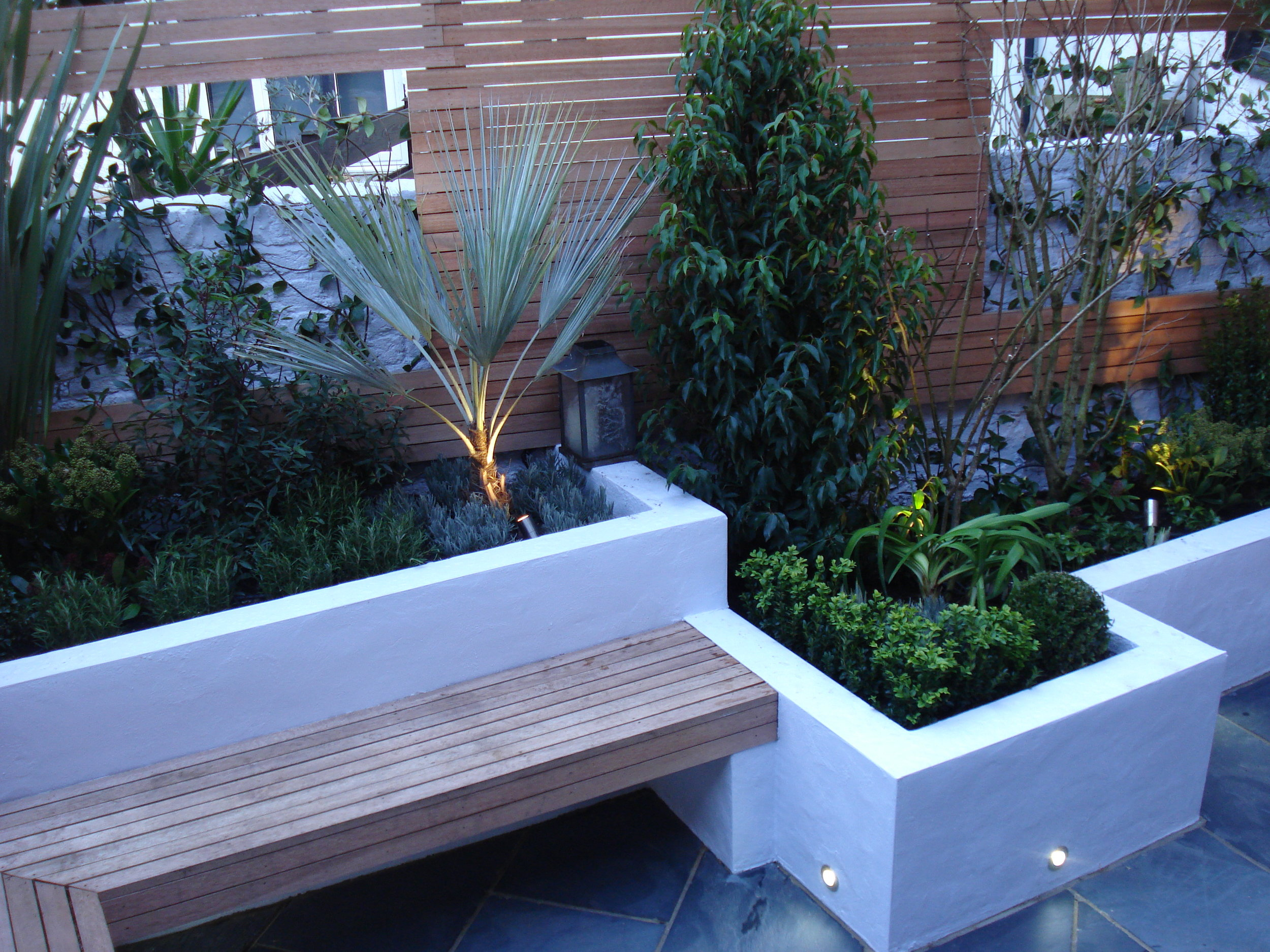 Hardwood bench seating