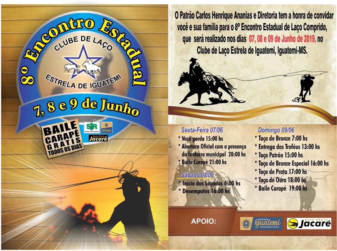 8º Encontro Estadual de Laço Comprido do Clube de Laço Estrela de Iguatemi