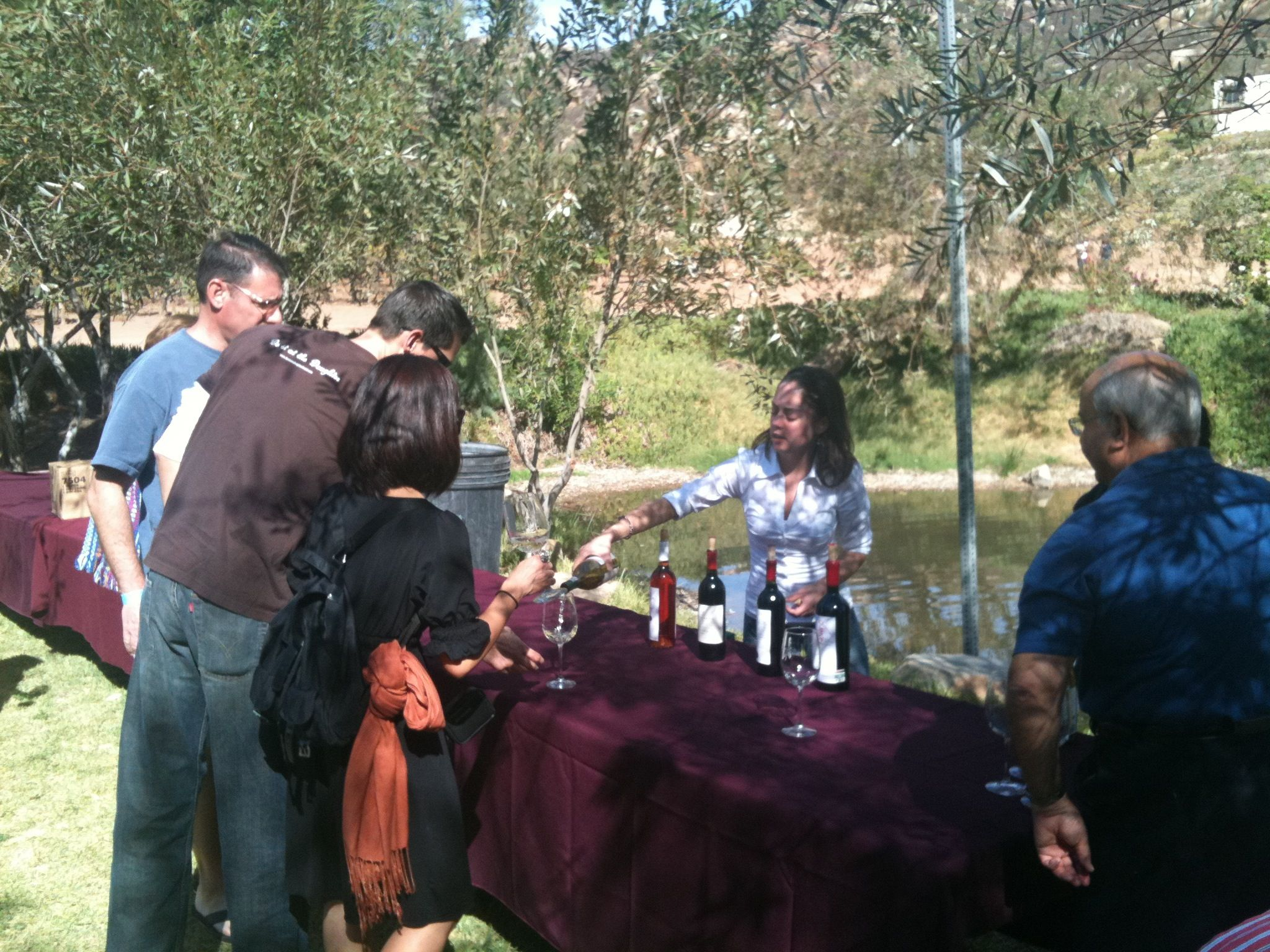 Monte Xanic tasting at the winery's lake