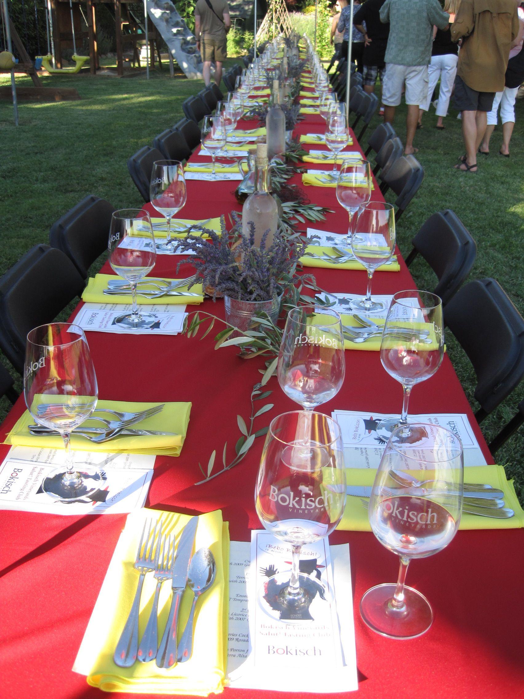 Dinner in the vineyards at Bokisch Vineyards