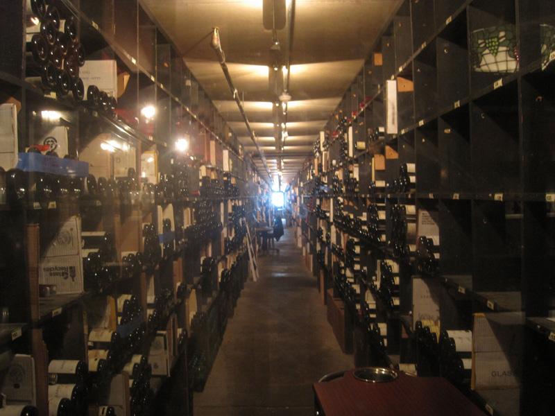 Wine cellar at Antoine's