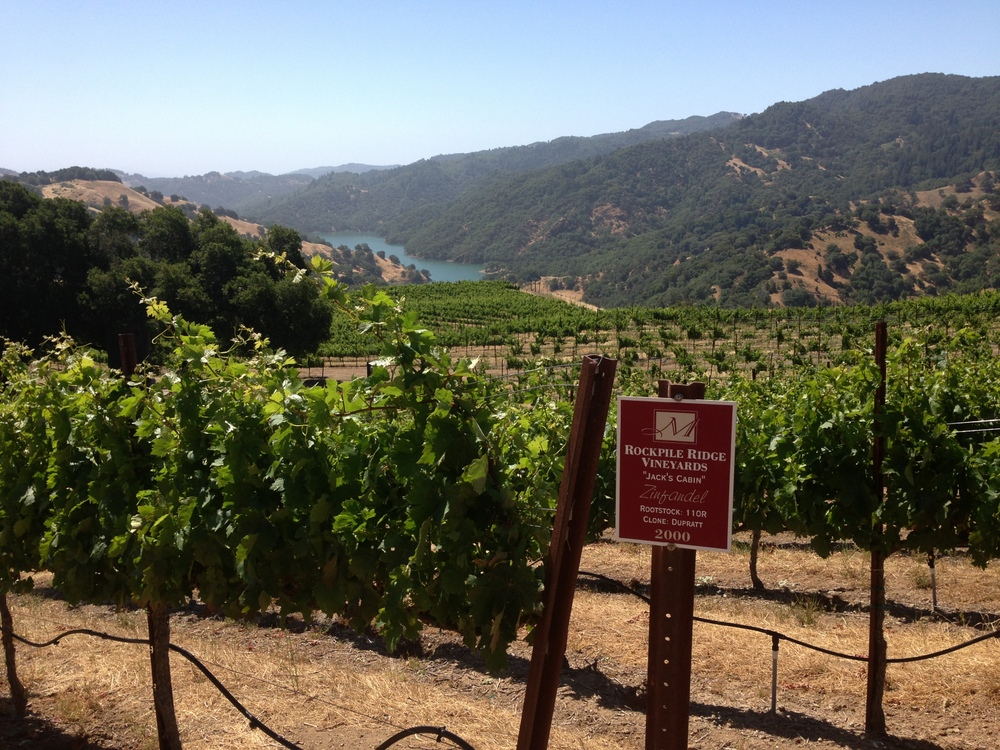 View from Rockpile Vineyards looking toward Lake Sonoma.