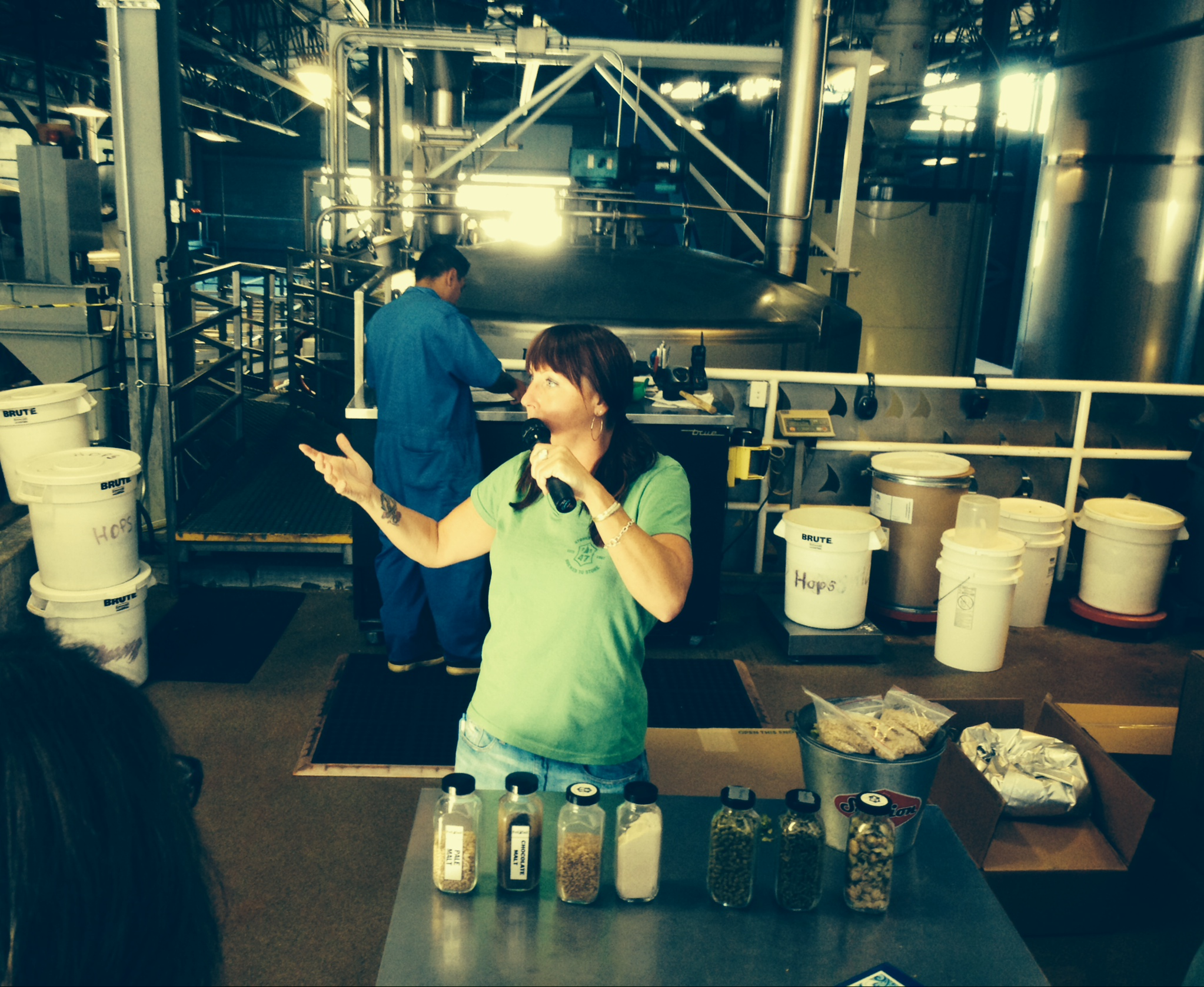 Erin, our awesome tour guide at Full Sail Brewery in Hood River.