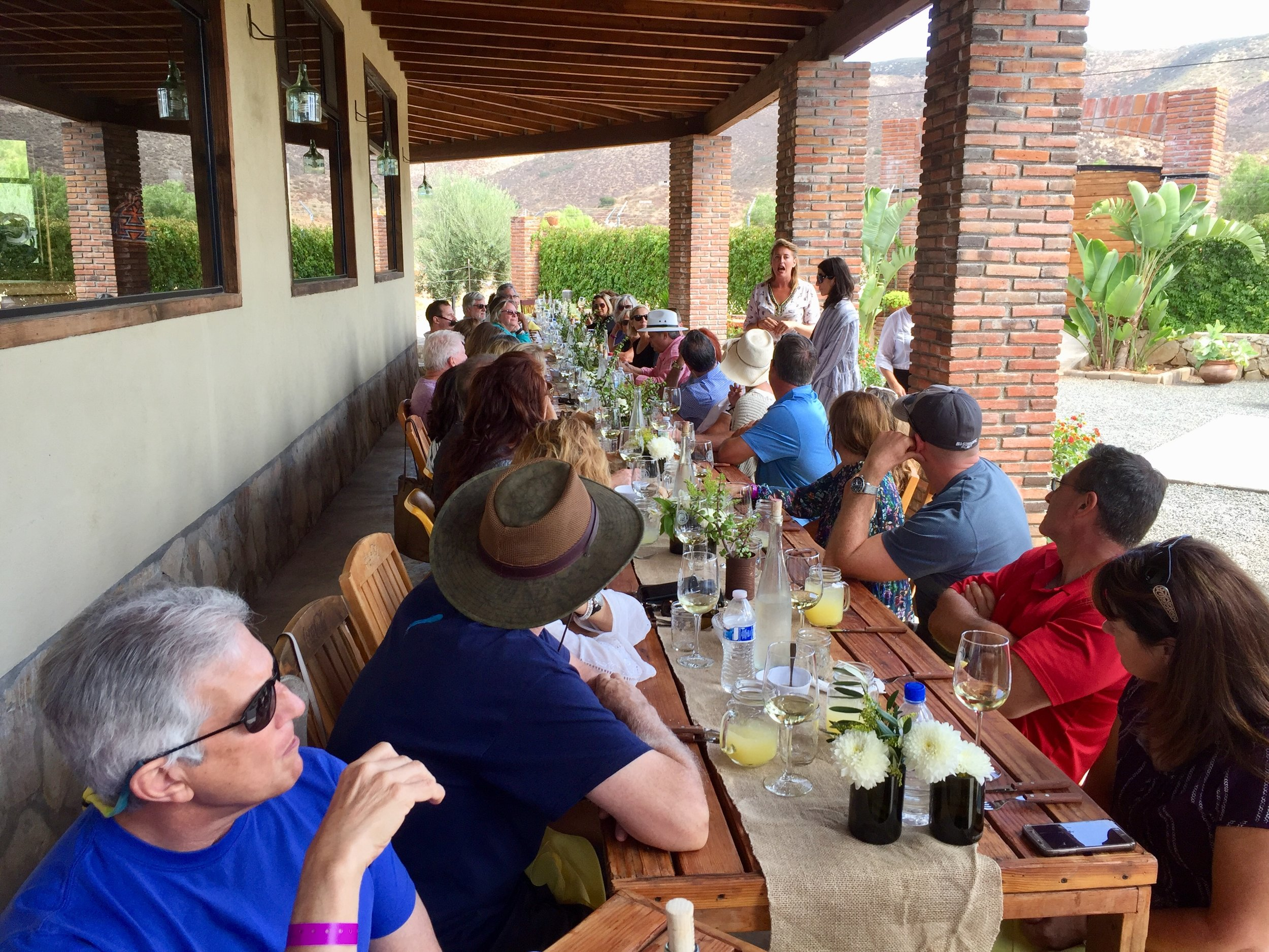Finale lunch at Lechuza Vindeyards