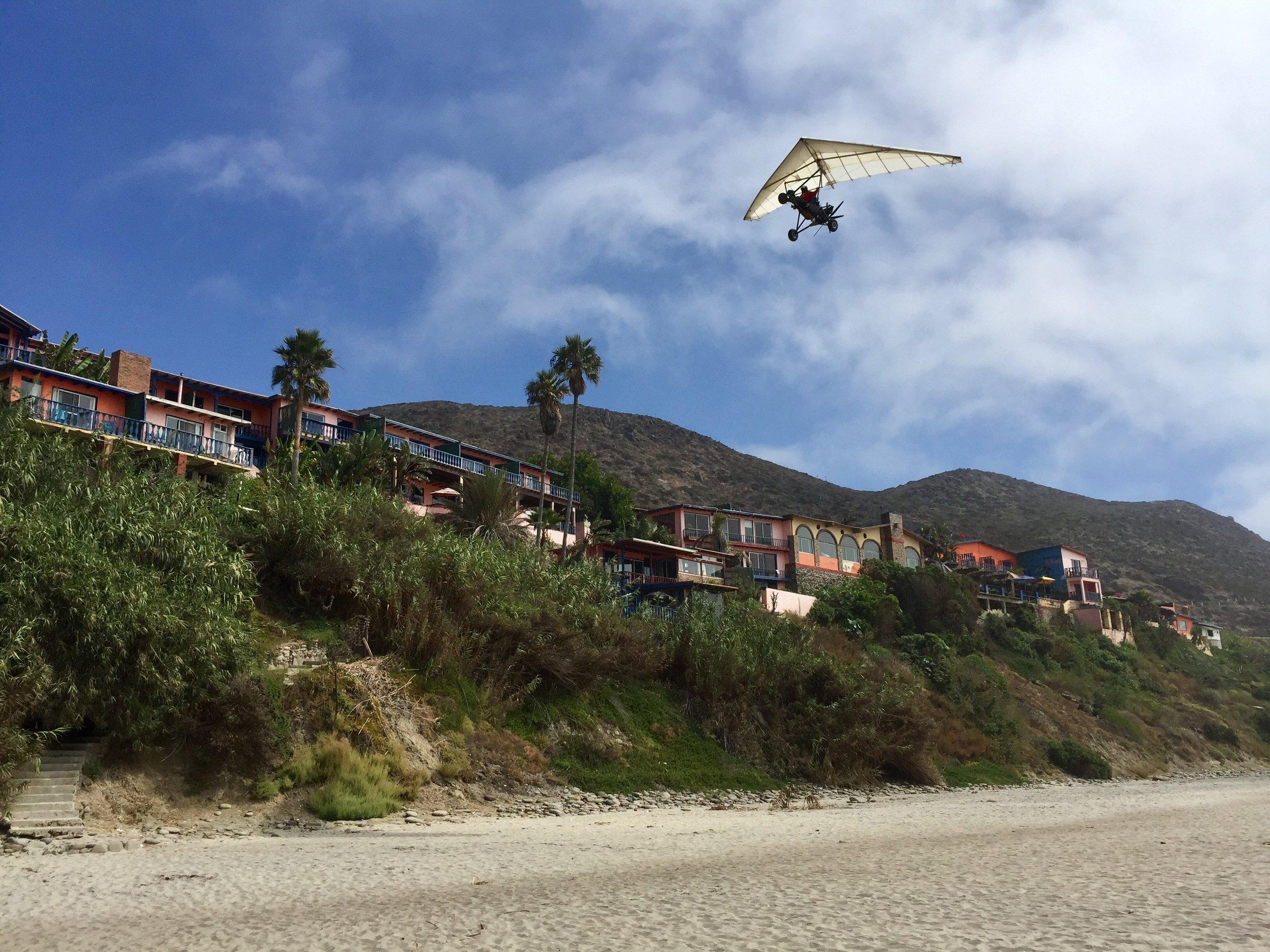 Up, up, and away over La Fonda