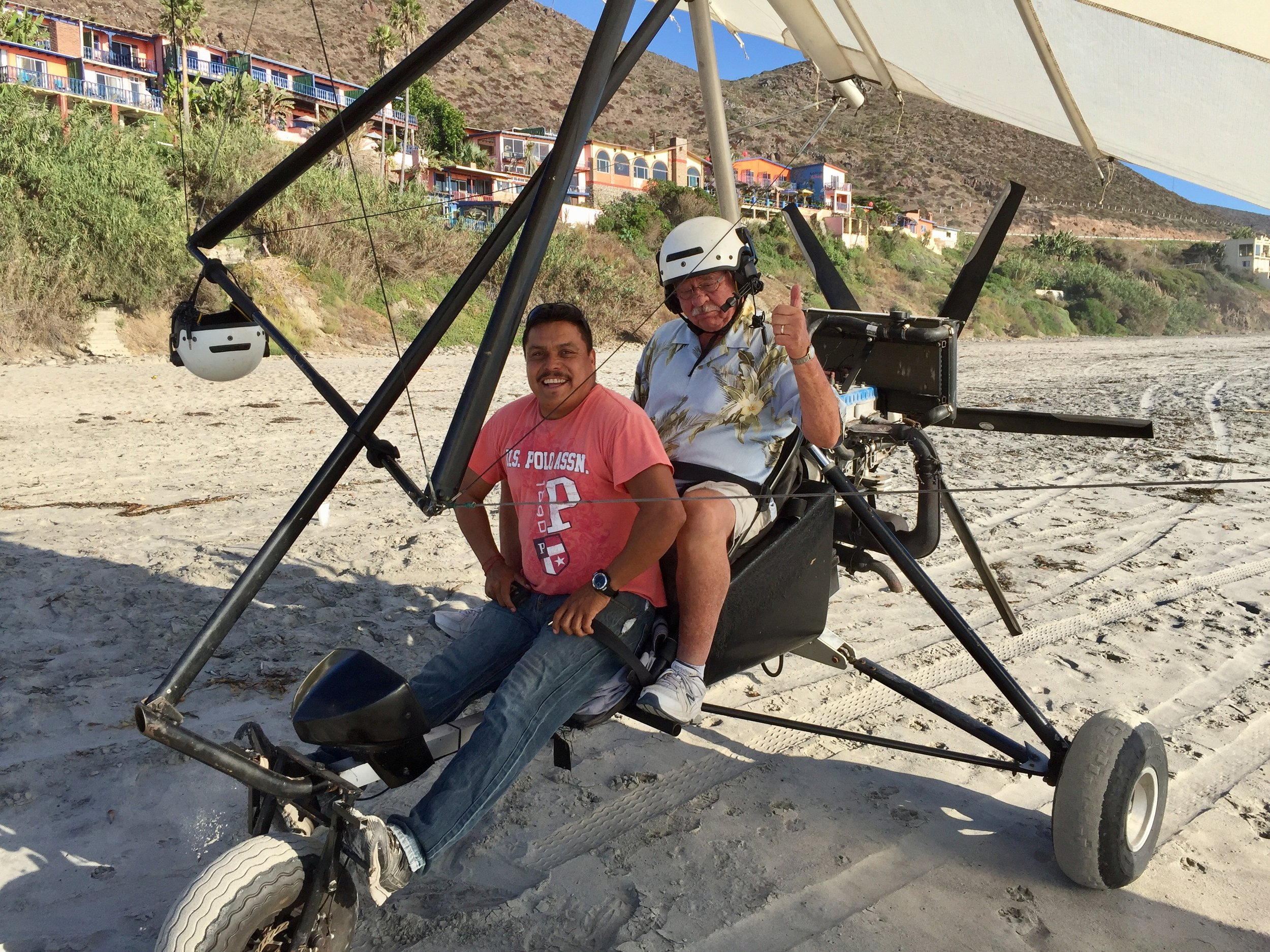 Buckle up for an ultralight flight over the beach at La Fonda
