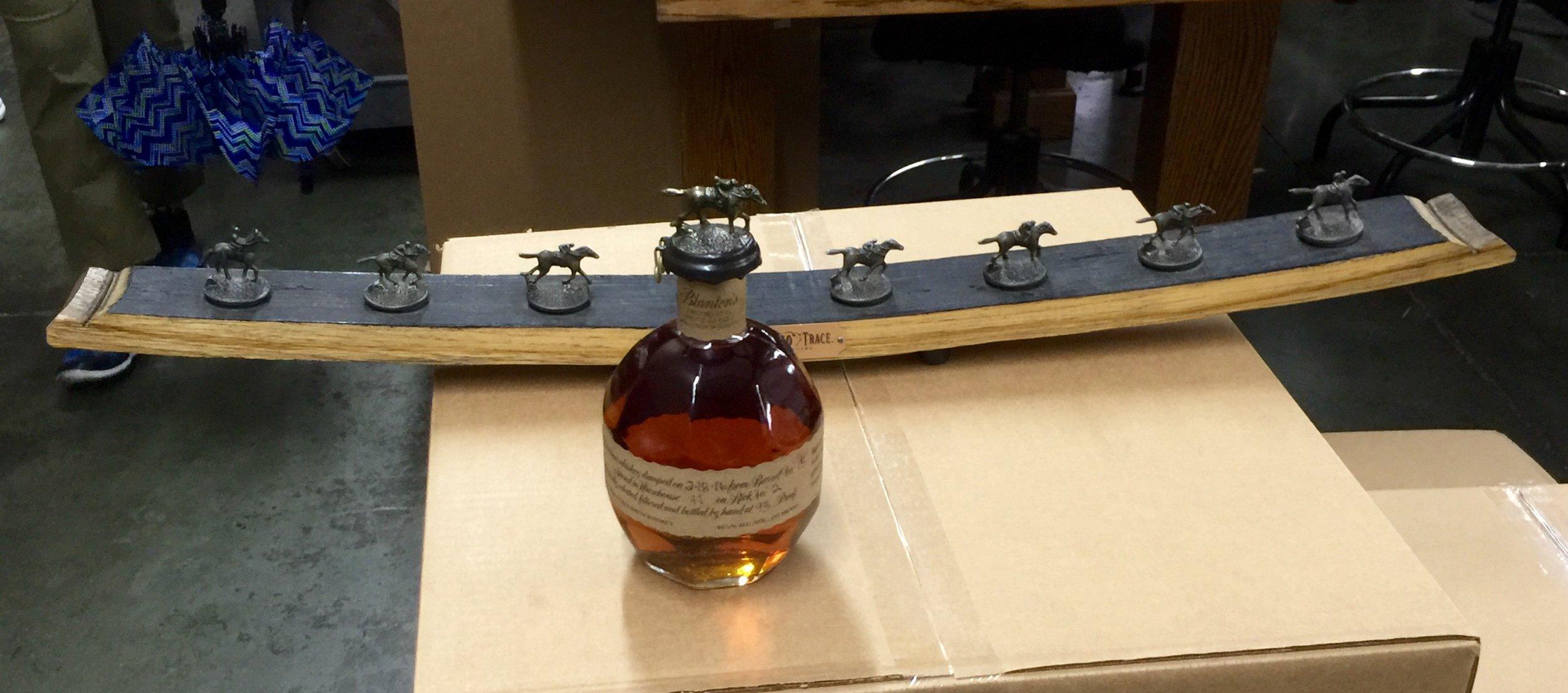 Blanton's iconic horse racing bottle top.