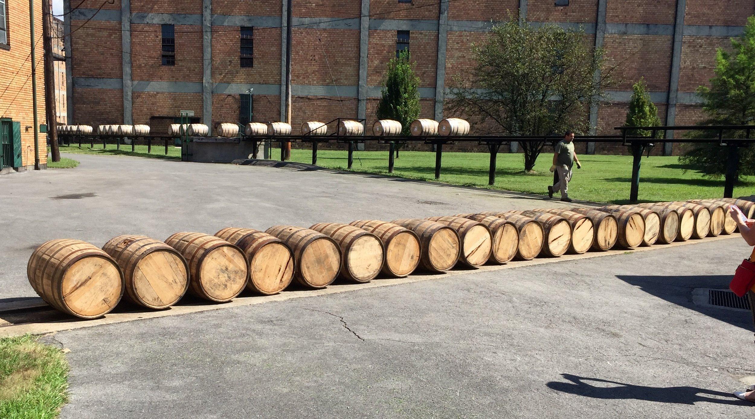 Barrel run at Buffalo Trace.