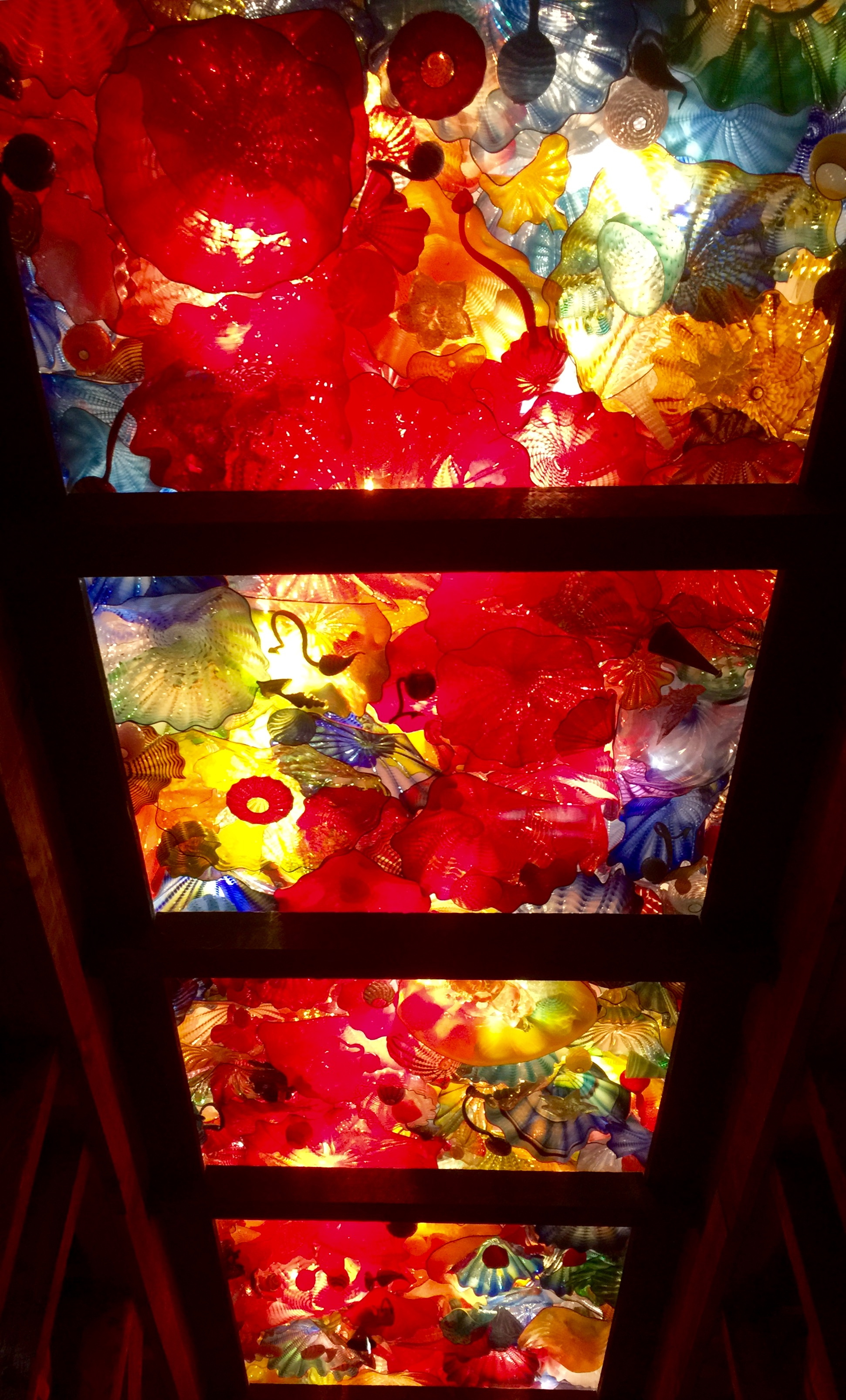 """Glass installation by Dale Chihuly called """"Spirit of the Maker."""""""