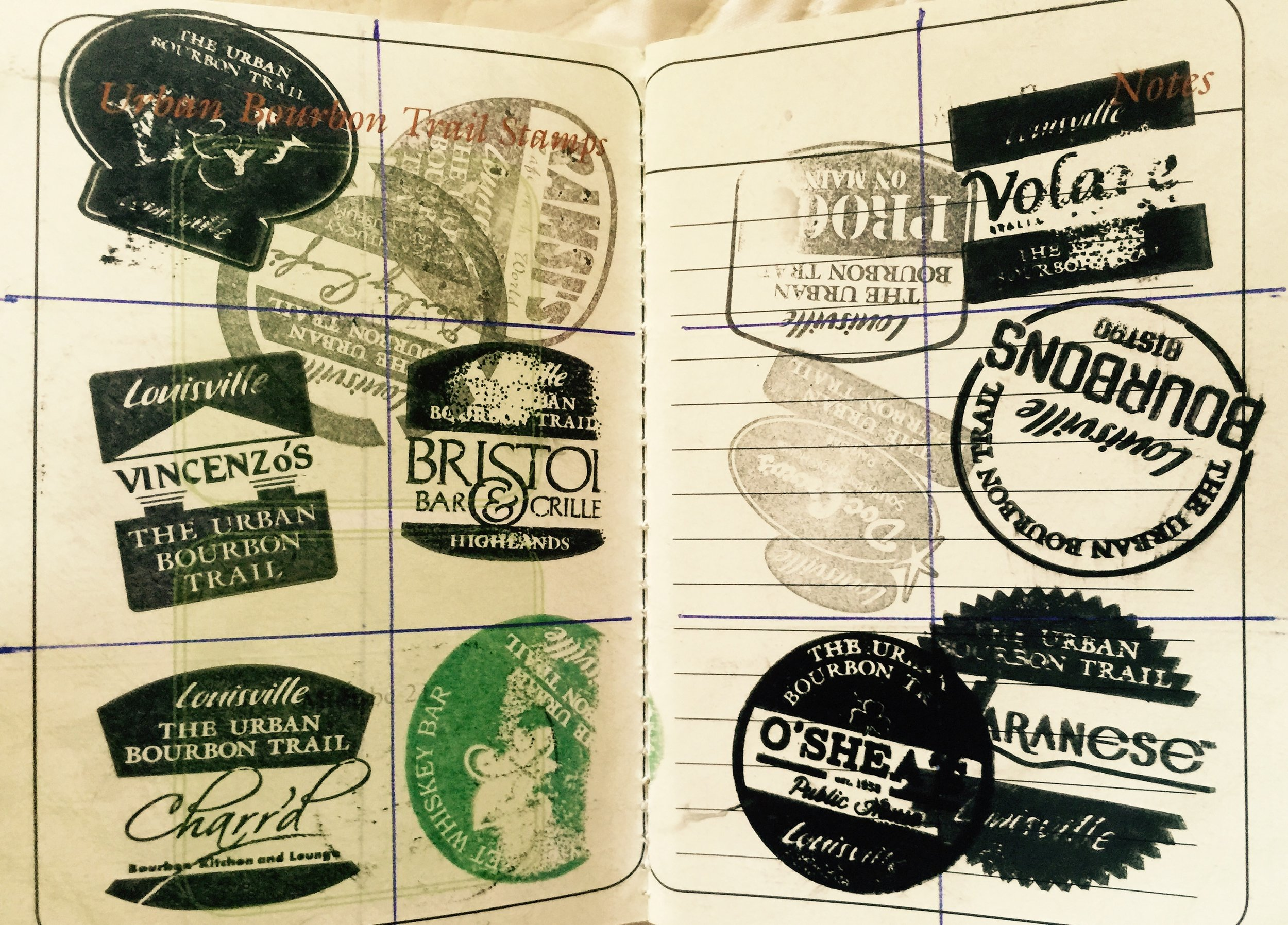 """Everyone got an """"Urban Bourbon Trail Passport"""" book on the first day of  the tour."""