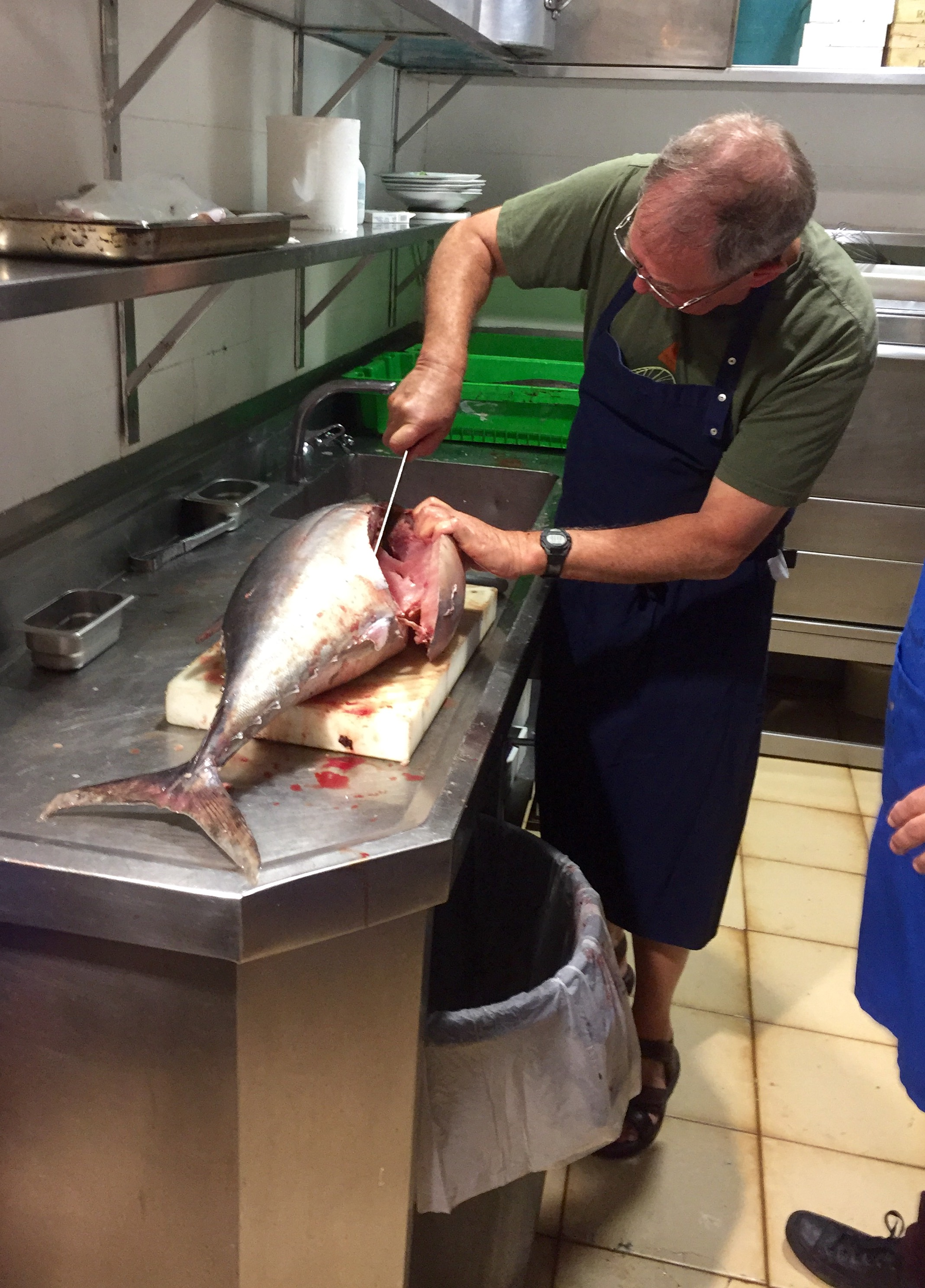 ... and here we're cleaning fish ...