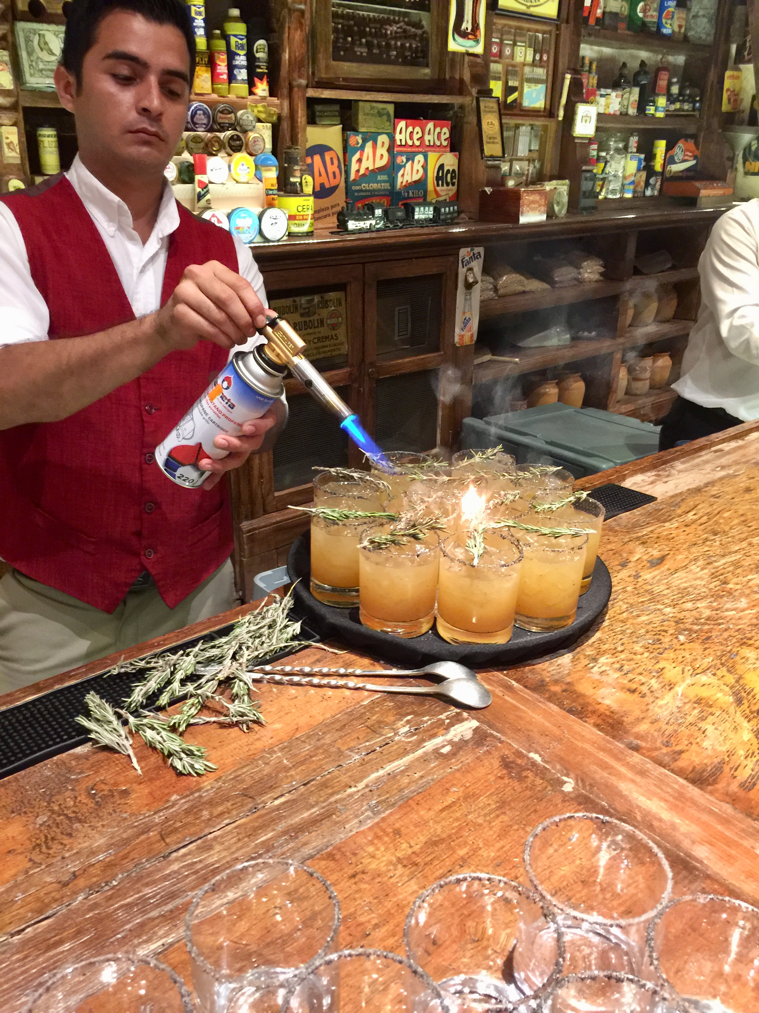 Smoked Margaritas at Tienda de Raya