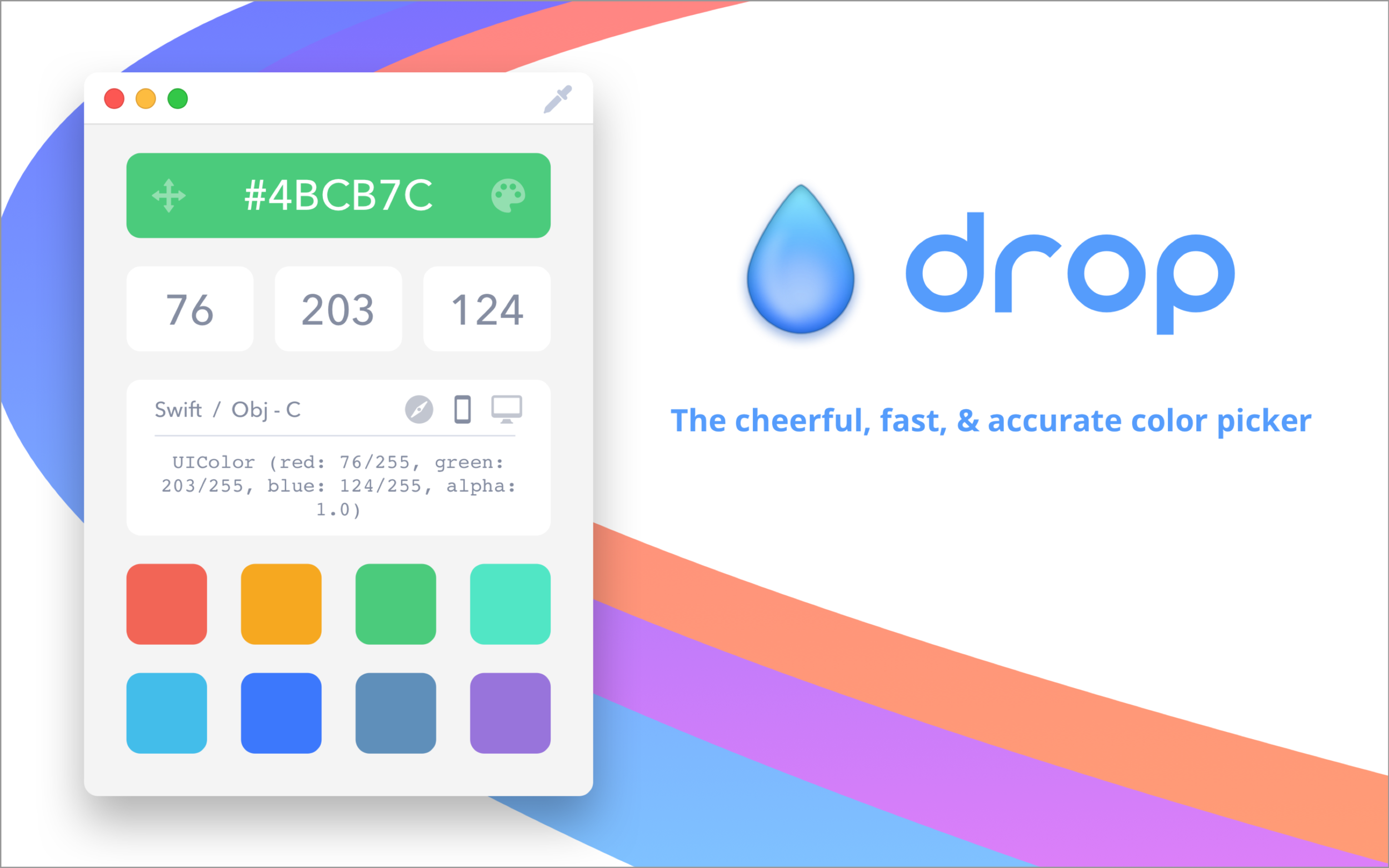 Drop: Mac color picker for developers