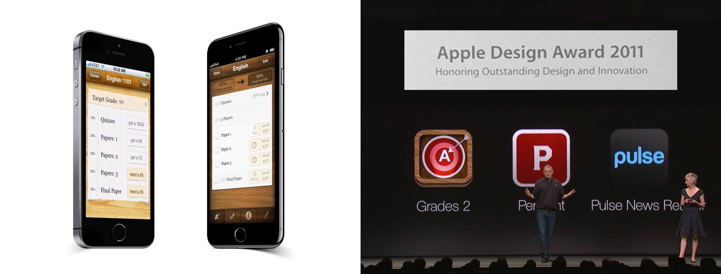 Grades: Tells students what scores they need on upcoming assignments to get their target grade in a class