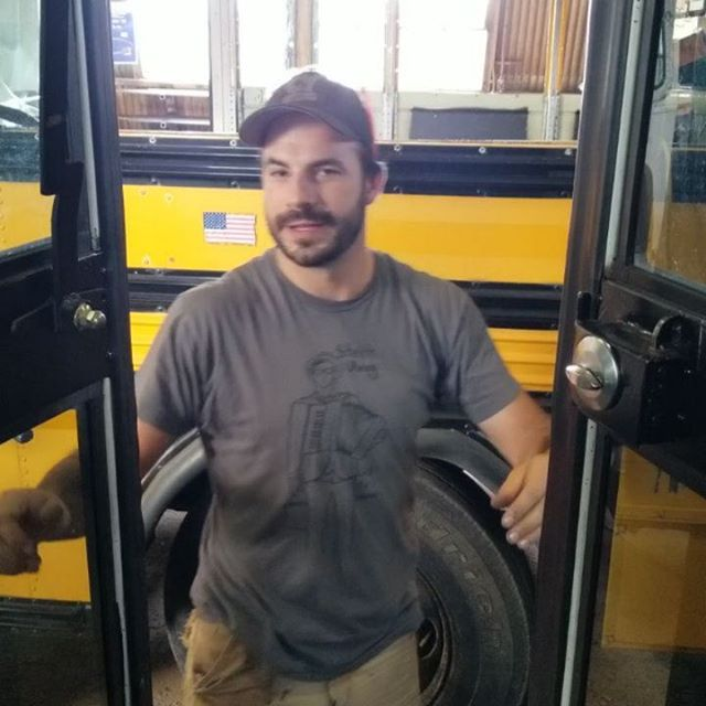 Making bus doors secure is a perennial challenge. Here's a way we did it way back in 2017 that was still doing the job when the bus came in for its annual checkup last week. Clearly stoked on it. #fab
