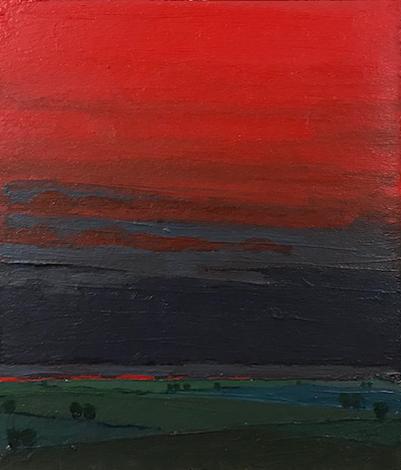 Darkness Falls, 2018, oil on paper, 6 x 5