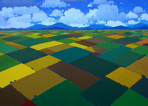 Valley Tapestry, 2013, oil on canvas, 84 x 120