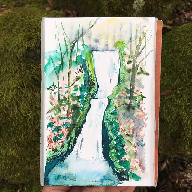 🌊 . . . . . . . . . . . . . #art #watercolor #watercolors #watercolour #watercolours #watercolourpainting #watercolorstudy #watercolorsketch #watercolorpainting #pleinair #pleinairpainting #landscape #landscapepainting #painting #holbein #windsornewton #artgram #artistsoninstagram #instaart #instaartist #artwork #artistsofinstagram #watercolorart  #oregon #exploreoregon #qorwatercolors #danielsmith #danielsmithwatercolors