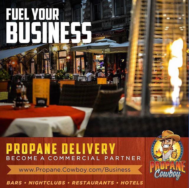 It's our guarantee that our clients will have gas and patio heaters available when they need them, even when unexpected needs arise. With @Propane_Cowboy you get reliable service and supplies at affordable prices. #fuelingyourcompany (link in bio)  #propanecowboy #gasheaters #patioheaters #commercialheating #restaurantsupply #hotelrestaurantsupply #outdoorpatioheater #outdoorbarheating #nightclubpatioheating #fueldelivery #propanedelivery