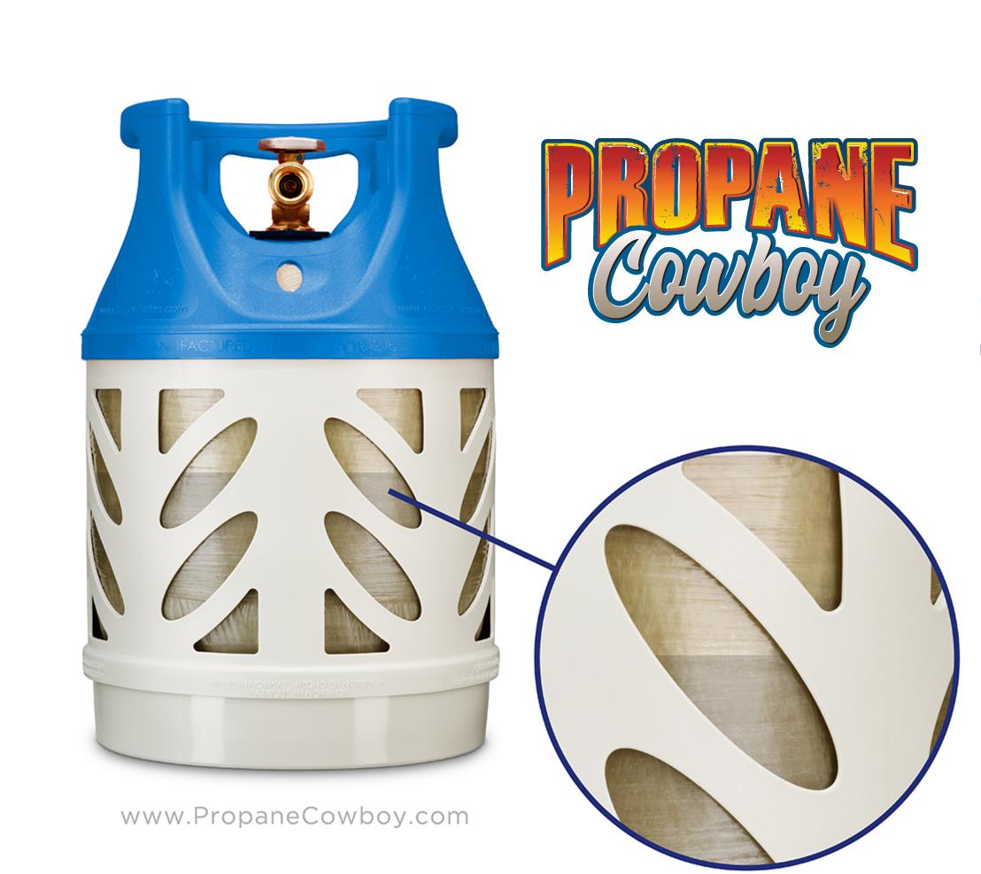 translucent propane tank tanques de propano de fibra de vidrio miami florida www.propanecowboy.com