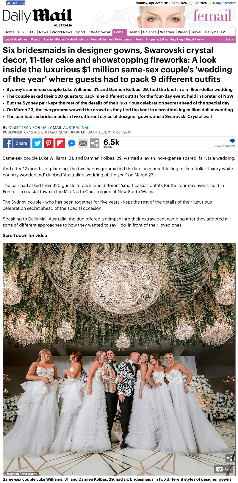Daily Mail UK Million Dollar Wedding | LUK Event Design Management Planner