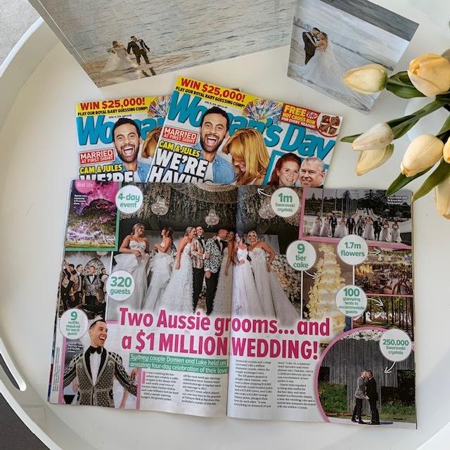 Luke's wedding makes Woman's Day! LUK Event wedding design planner management stylist
