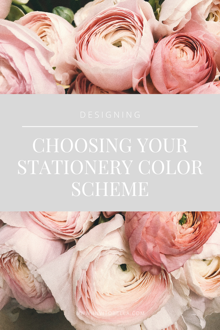 Choosing your stationery color scheme
