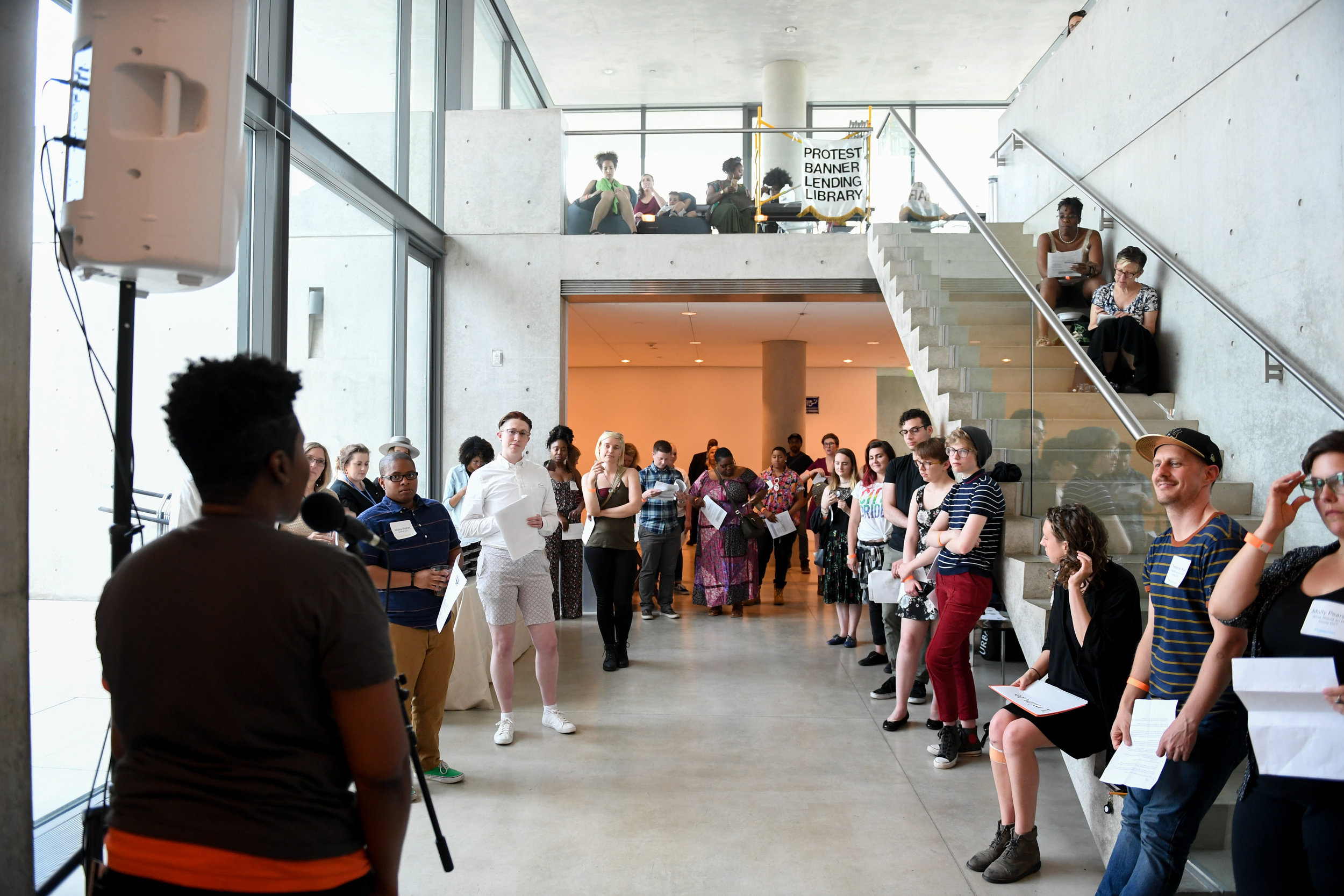 The Spark Dinner: LGBTQ+ Resources at Pulitzer Arts Foundation, 2018; Photograph by Michael Thomas