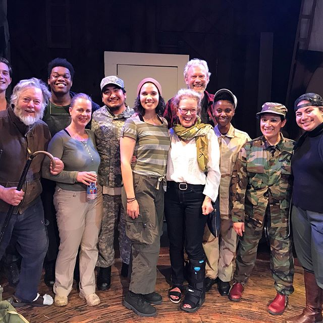 The Original Cast of Radioman after the last performance of this current run at Dell Arte