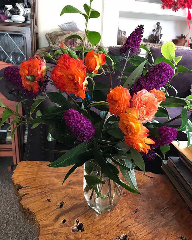 Victory Flowers for Jim McManus in San Diego for a Radioman workshop at LaJolla Playhouse- Eric and I will be joining him on Friday!