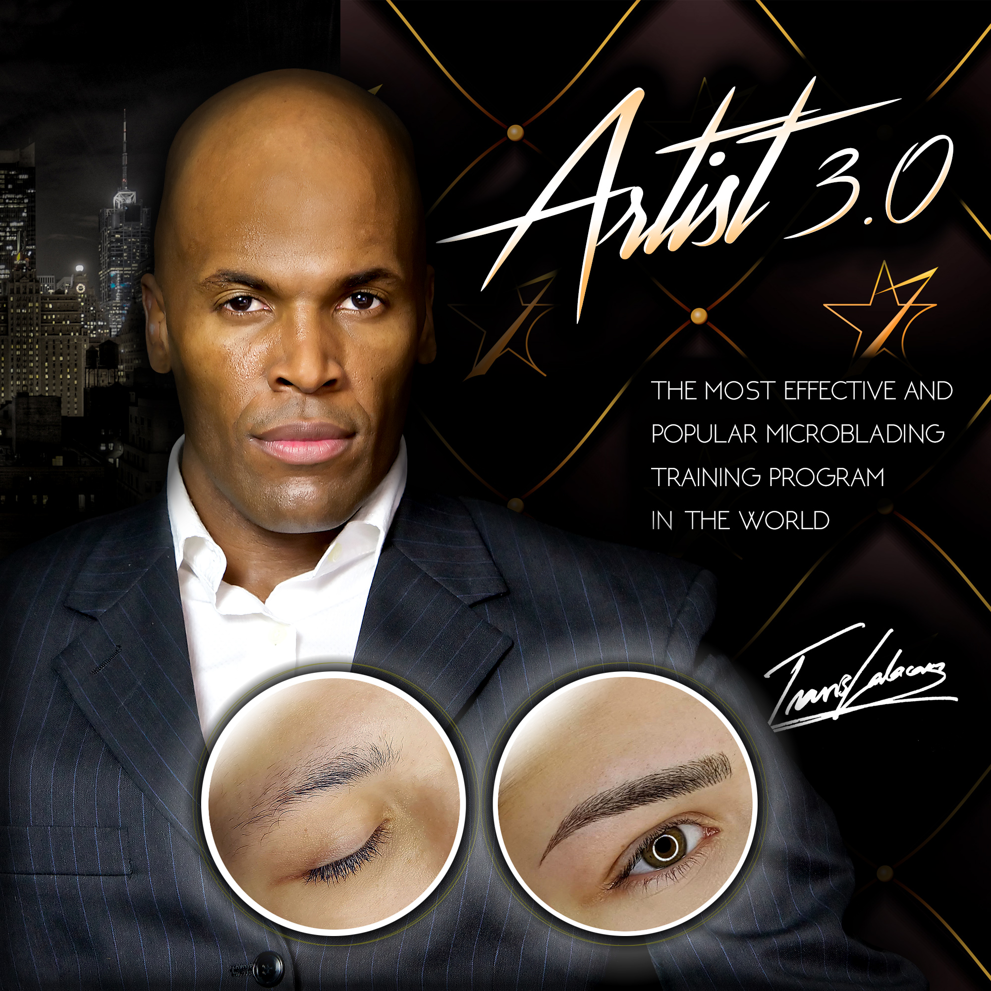 Artist 3.0 program is the most advanced and effective way to learn Light microblading, that is the newest and best microblading technique. More than 3000+ students can't be wrong!    Light microblading - Certainly the largest change in the world of microblading.  Compared to conventional approach Light microblading means that much less pressure is applied when cuts are made to insert the pigment into skin. Due to that a larger amount of phases is needed - however, the duration of the process is cut shorter applying pigment and anaesthetics at the same time. Brows made with Light microblading have the following concrete advantages:  - Lines are sharper, thinner and more precise. - The retention of the pigments is much better.  - The end result is absolutely natural (even from a very close distance).  When it comes to Light microblading very sharp u-blades are used to insert pigment into skin over the course of much higher number of phases than with conventional method. As a result of that the risk that the blade would penetrate too deep is eliminated. In addition to that the amount of pain and unpleasant feeling for the client is much smaller, as well as there is practically no blood. Anaesthetics is used only for clearing the upper layers of the skin from blood (as it also presses blood deeper into skin) and dramatically less for its' pain reducing effect. Price of the training (1 year access to platform): 499€.