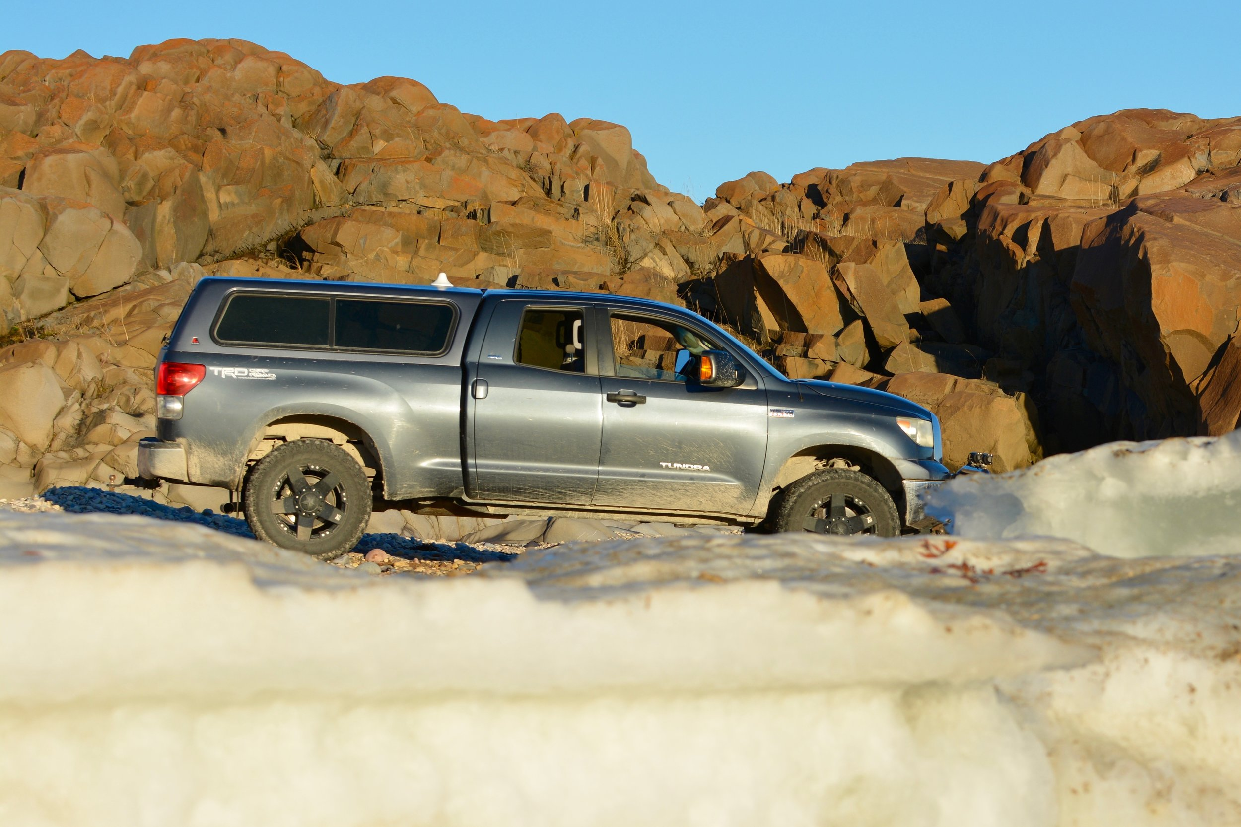 Nanuqtours Tundra truck rental @ $155.00 per day. Requirements needed.