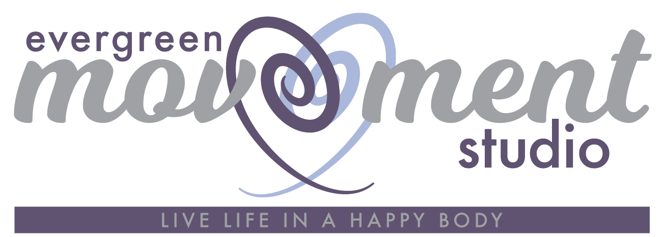 Gyrotonic logo Evergreen Movement Studio, live life in a happy body