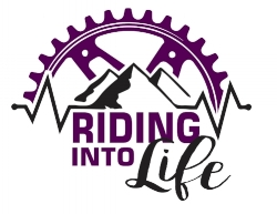 Riding Into Life Logo