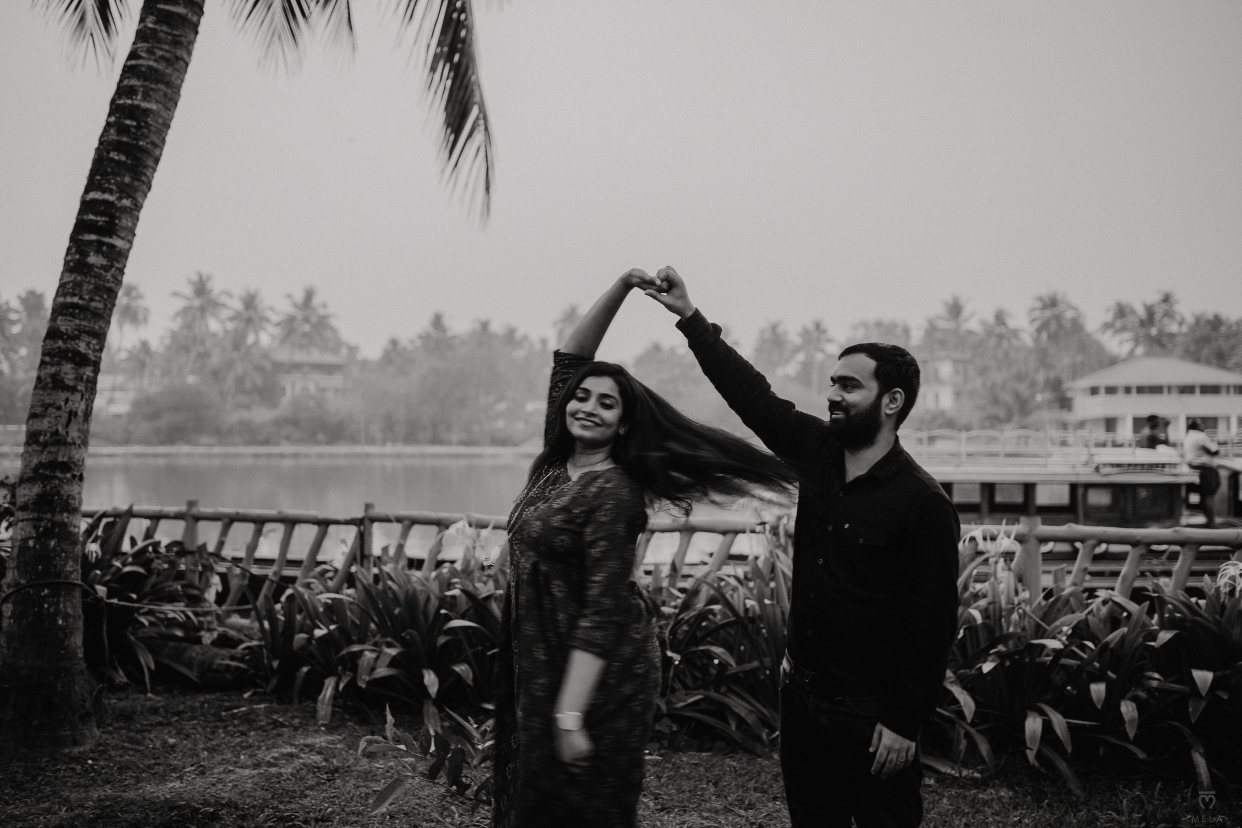 Engagement on a lagoon - Kerala, India