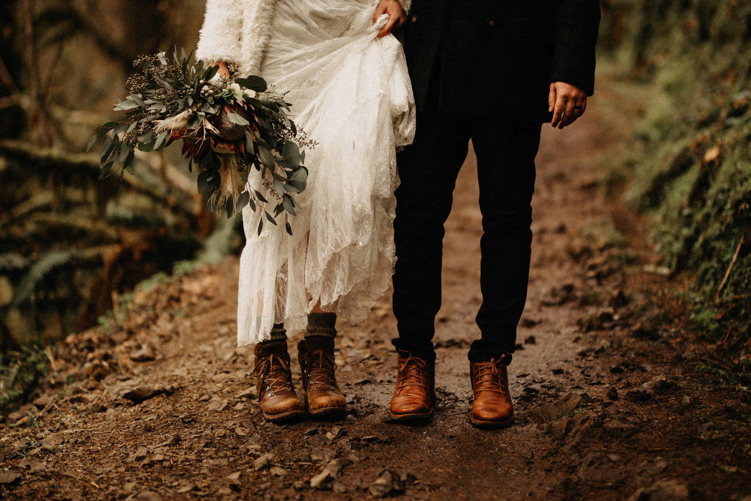 Silver Falls wedding - Silverton, Or