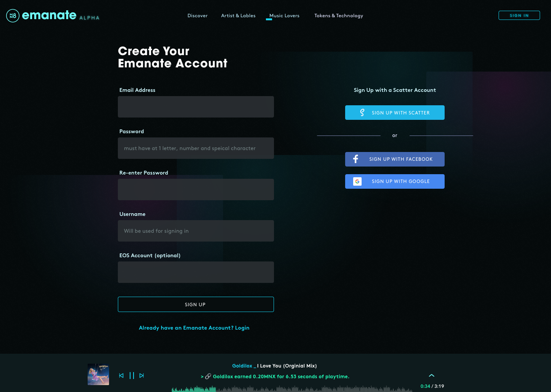 Towards mass adoption: SSO options alongside scatter on the Emanate Alpha platform