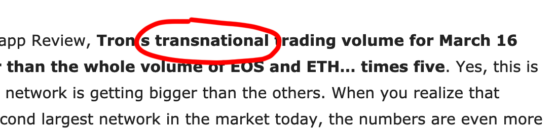 https://bitcoinexchangeguide.com/tron-trx-dapp-transaction-volume-is-dwarfing-ethereum-and-eos-nearly-five-times-the-amount/