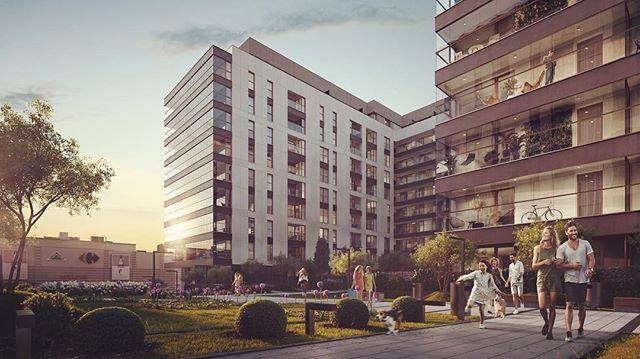 Summer afternoon at #centralgarden -  #residential #property in #Warsaw by #asbud  #3d #rendering #3drender #cgi #3dstudiomax #vray #renderoftheday #architectureporn #realestate #propertybranding #urbanjungle #visualisation #urbanliving