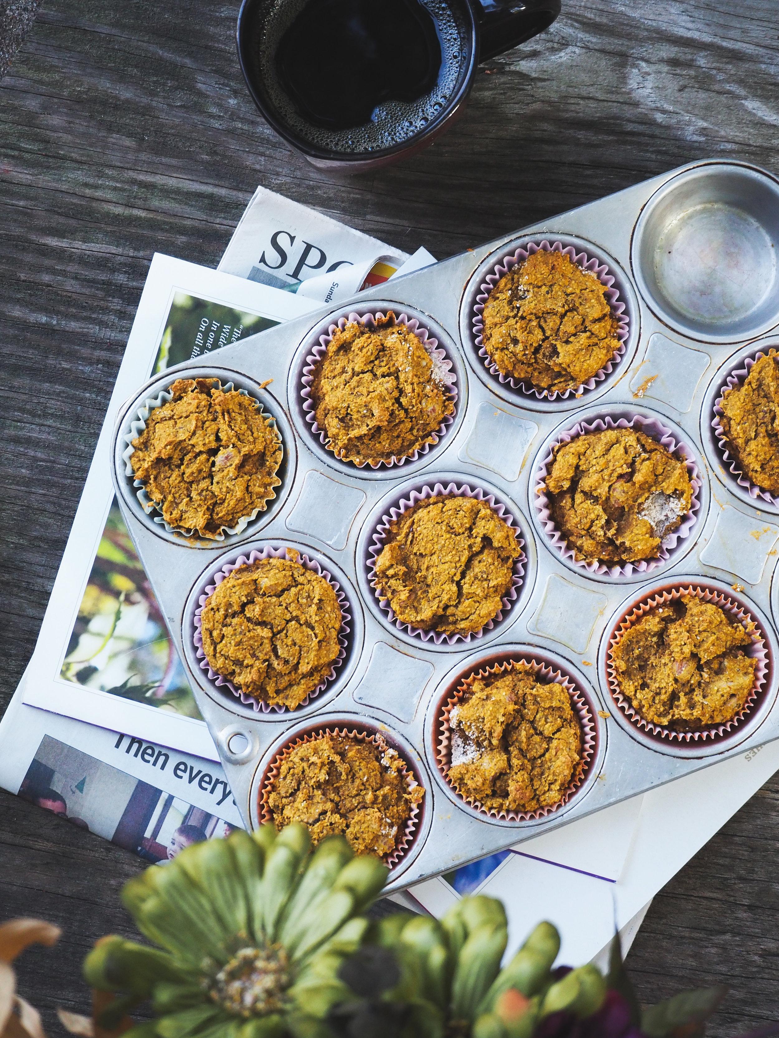 Pumpkin Oat Breakfast Muffins | Plant-Based, Vegan, Gluten-free, Refined Sugar-Free