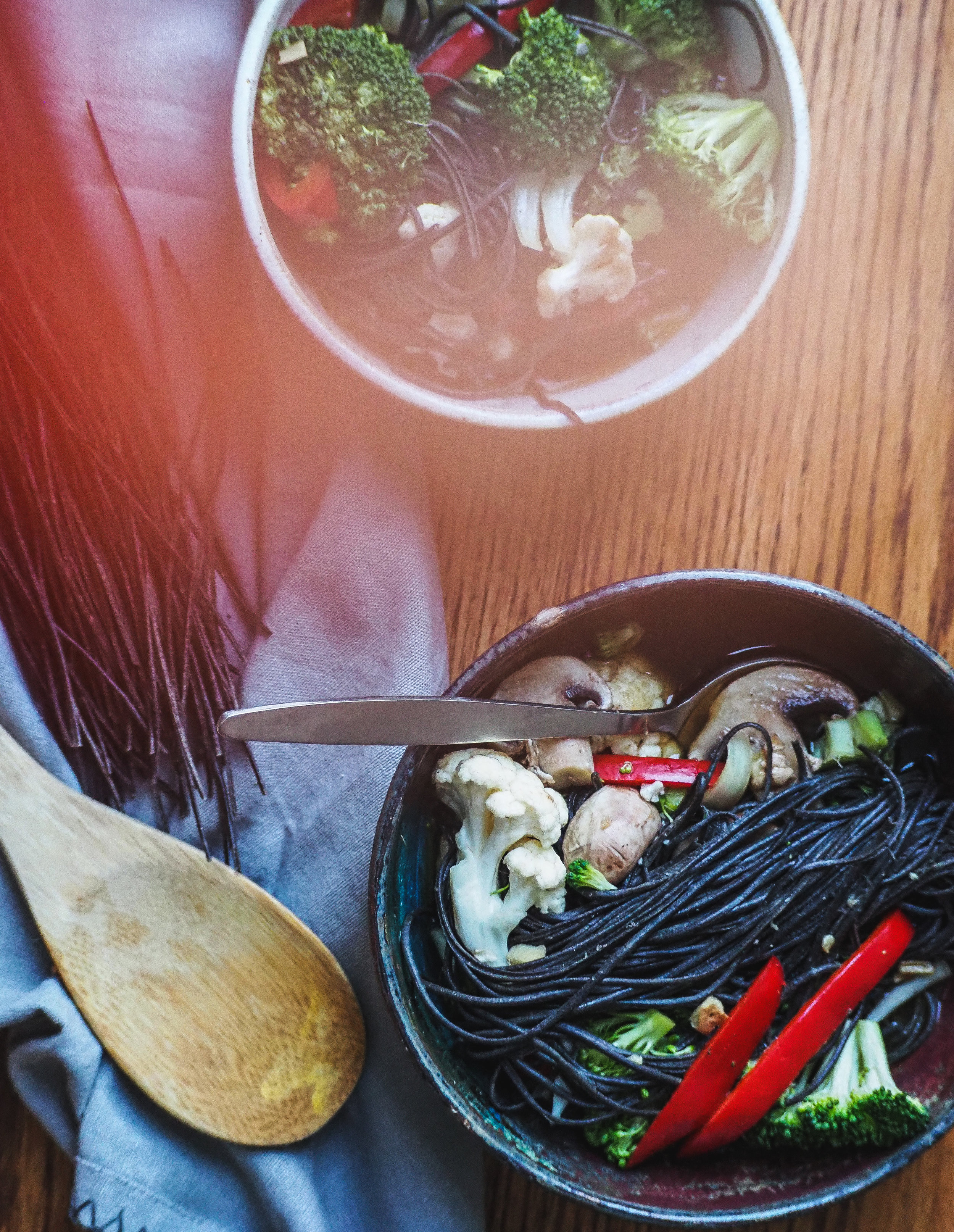Ramen Inspired Soup with Black Bean Noodles   Plant-Based Vegan, Oil-Free