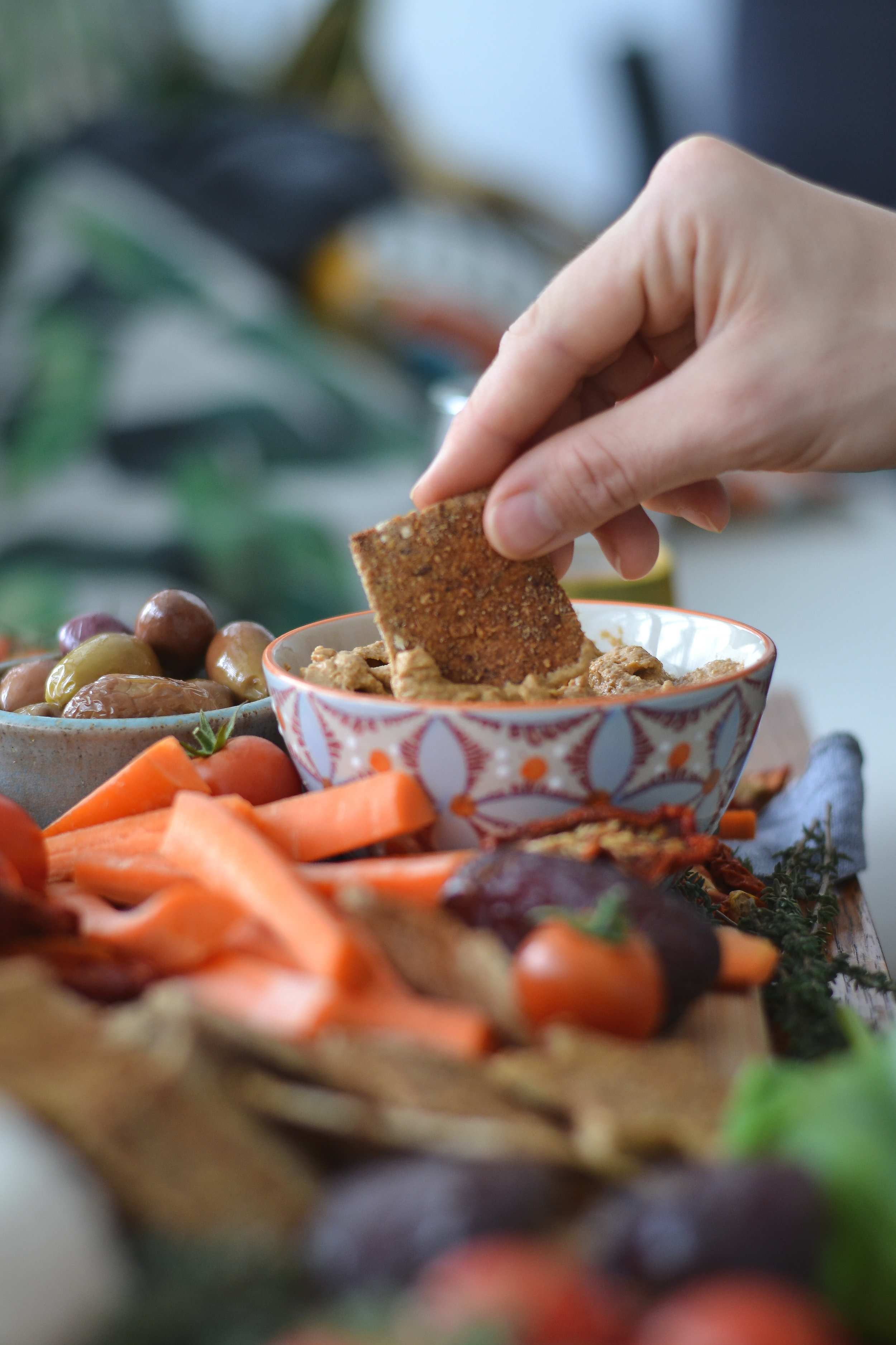Smokey Eggplant Dip | Plant-Based vegan, oil-free, dip or sandwich spread, healthy appetizer