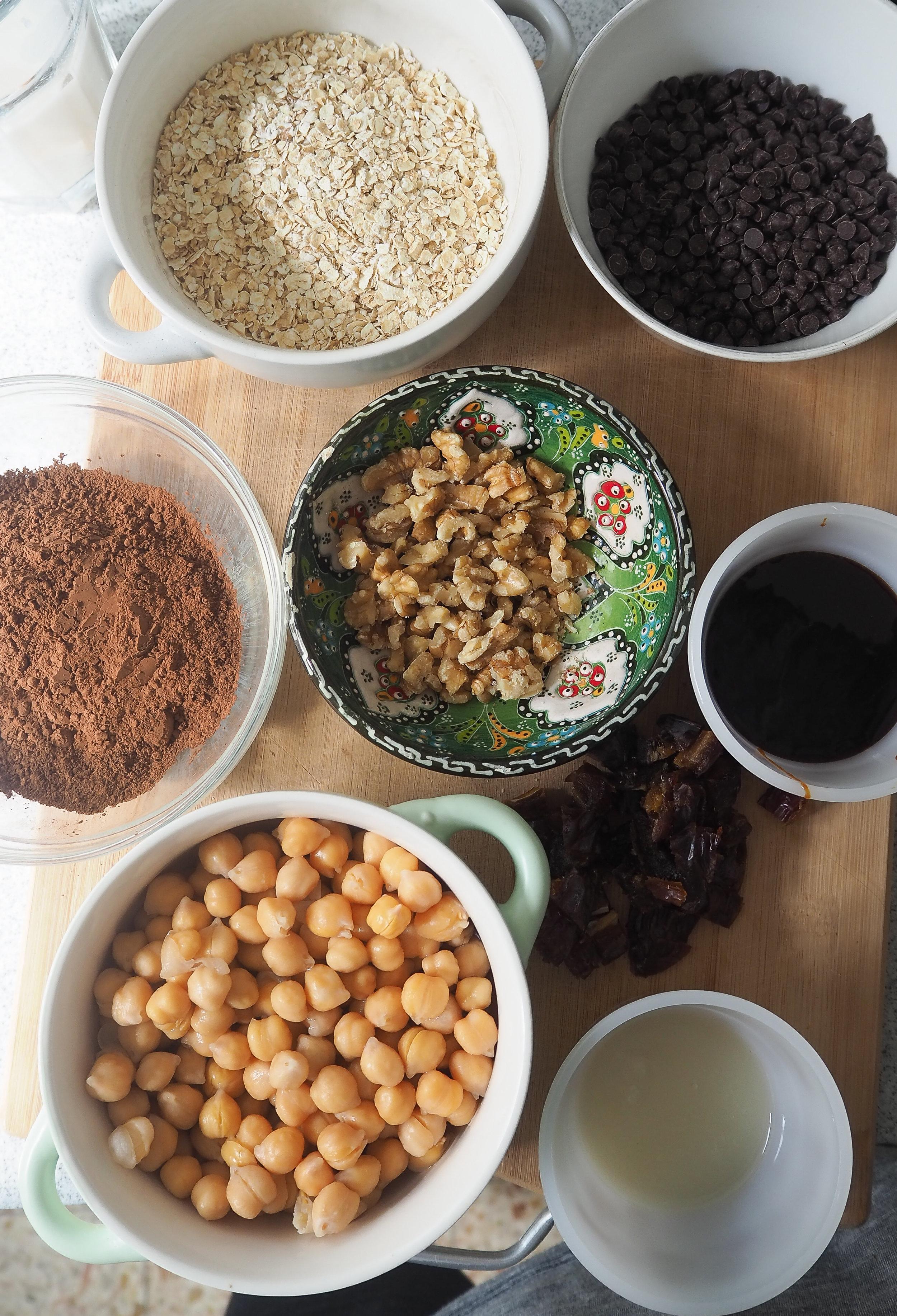 Plant-Based Brownie Ingredients