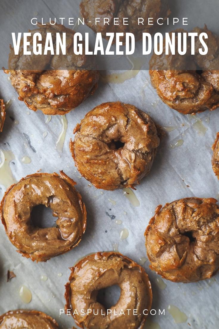 Vegan Glazed Donuts | Gluten Free | Oil Free | Homemade | DIY | Easy Vegan Recipe | Vegan Dessert | Oil-Free Dessert | Oil-Free Breakfast | Vegan Brunch Ideas | Plant-Based Brunch Ideas