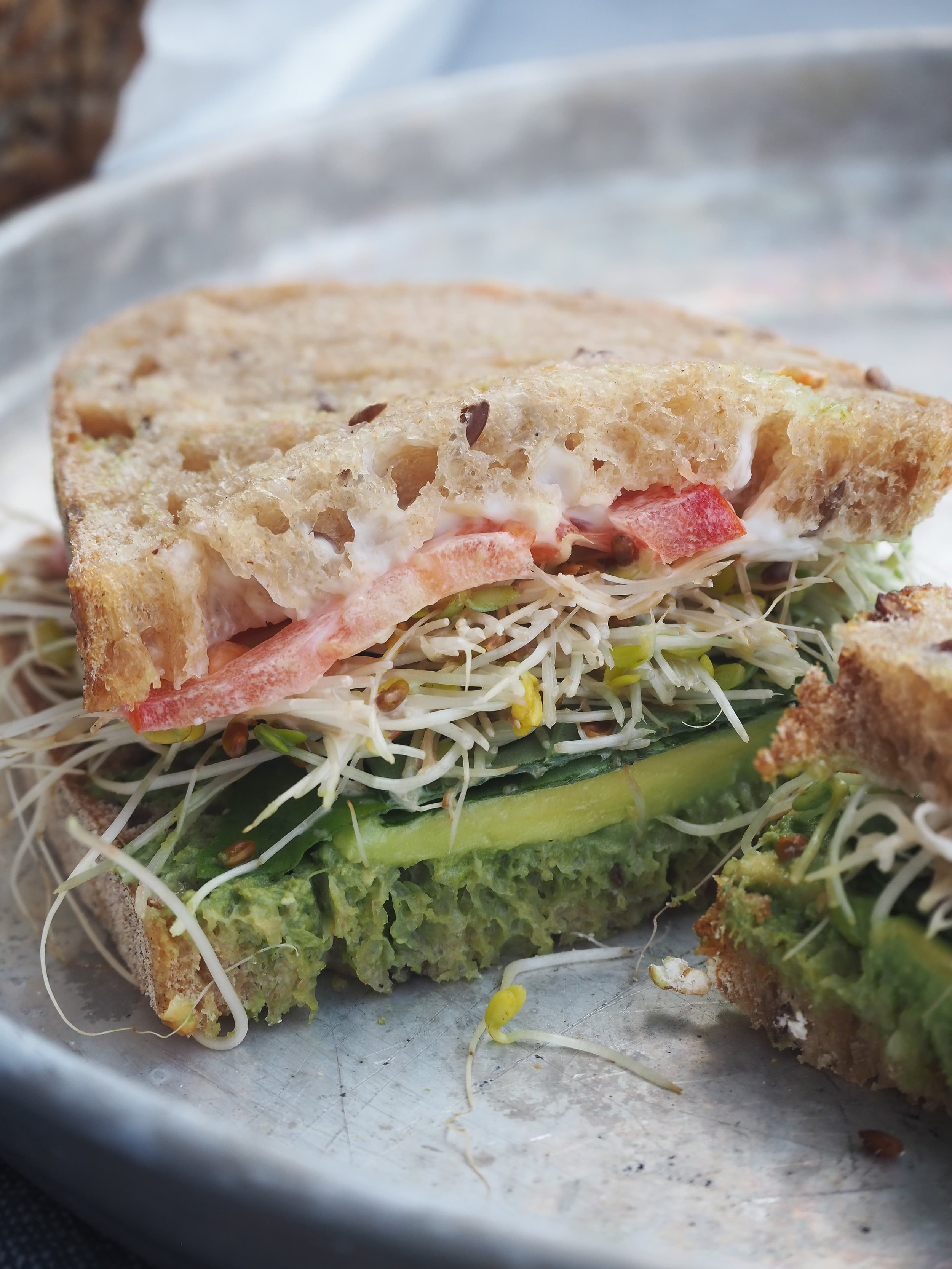 Vegan Avocado Pesto Sandwich